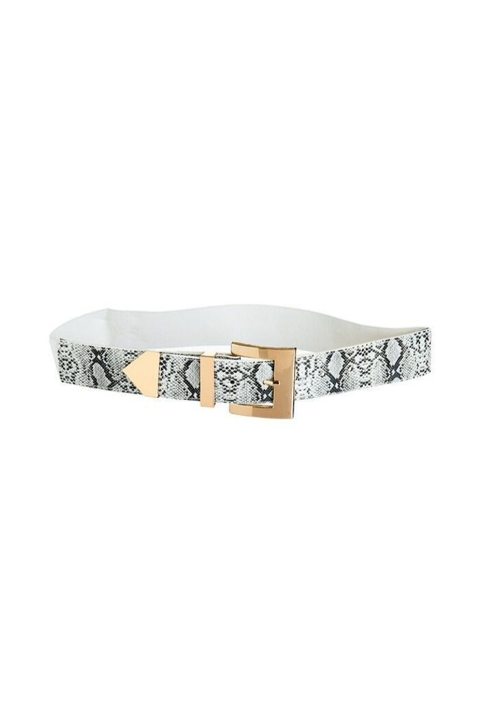 Faux Snake Leather Stretch Belt-Article & Thread Boutique