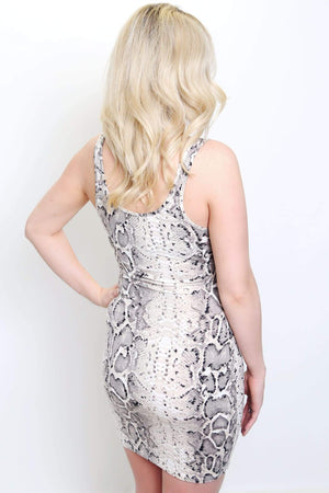 Fitted Snakeskin Dress-Article & Thread Boutique