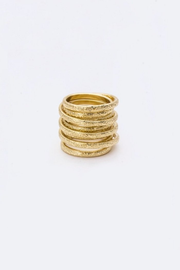 Gold Brushed Ring-Article & Thread Boutique