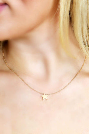 Gold Star Charm Necklace-Article & Thread Boutique