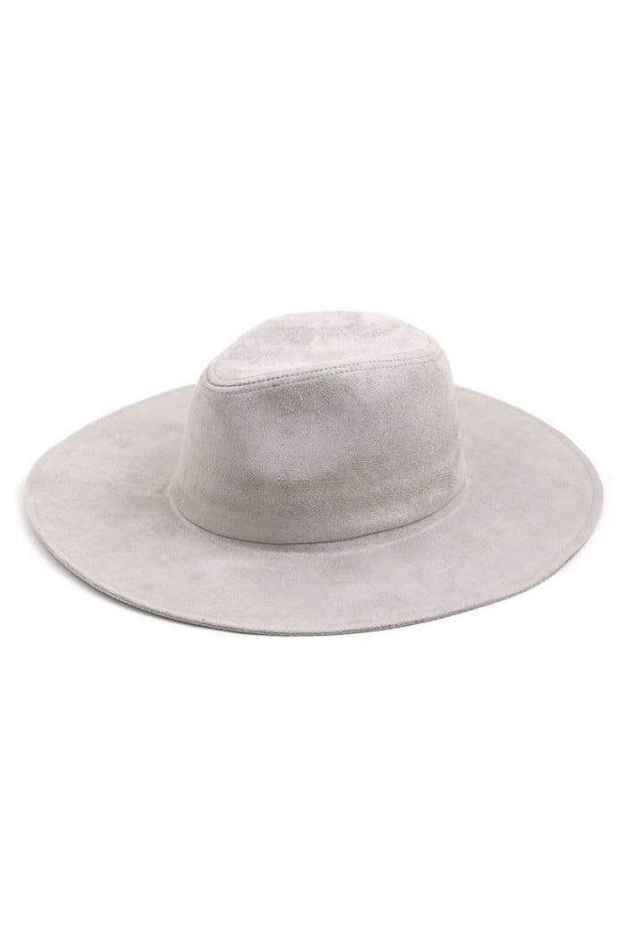 Grey Wide Brim Fedora-Article & Thread Boutique