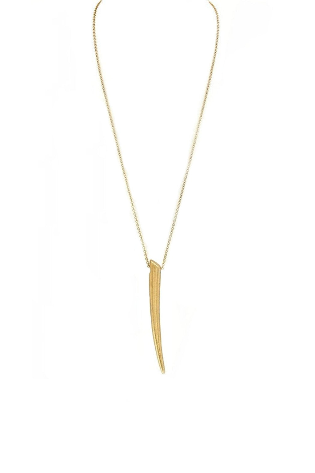 Hammered Metal Horn Pendent Necklace-Article & Thread Boutique