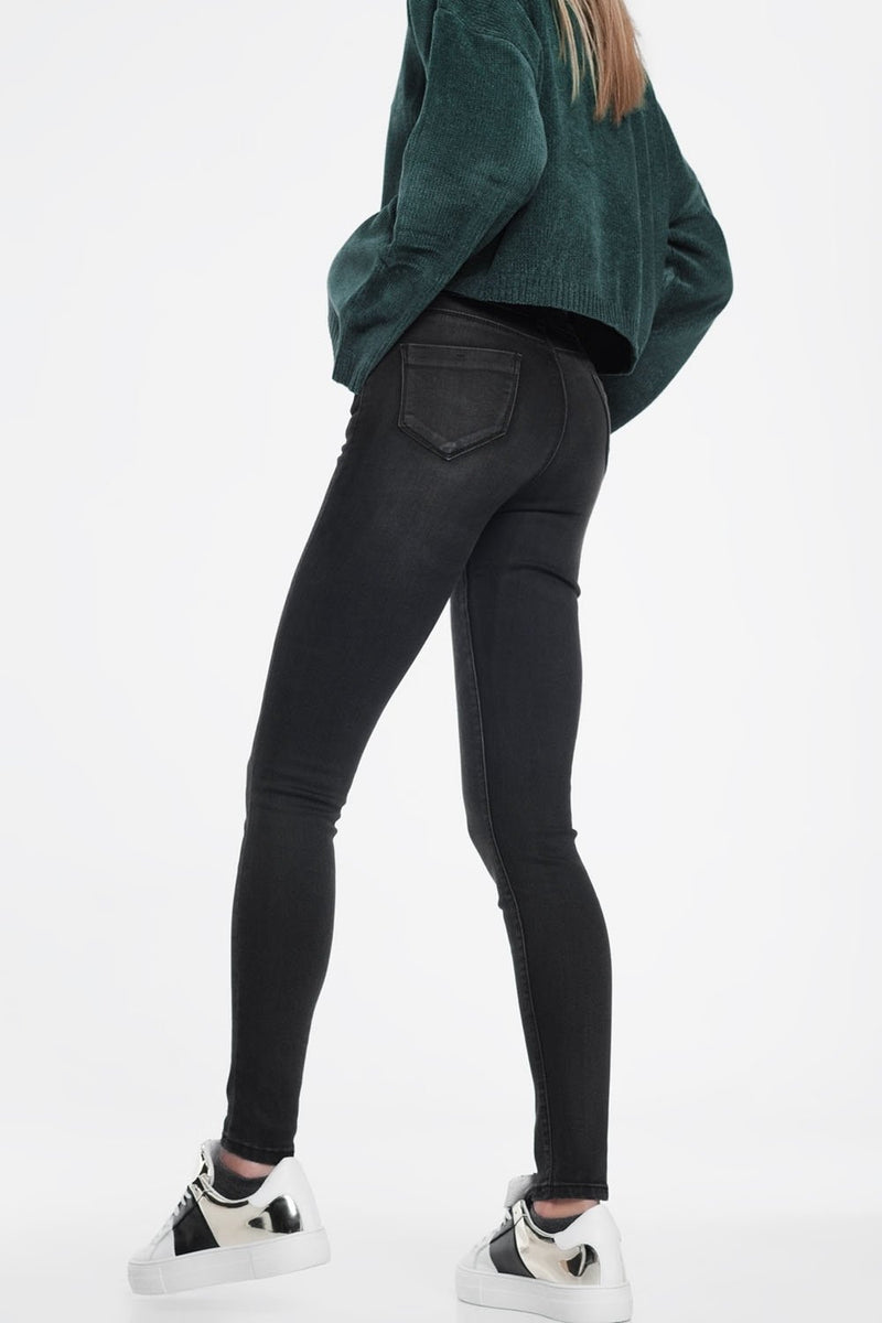 High Waisted Skinny Jeans in Washed Black-Article & Thread Boutique