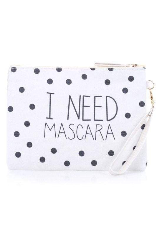 I Need Mascara Cosmetic Bag-Article & Thread Boutique