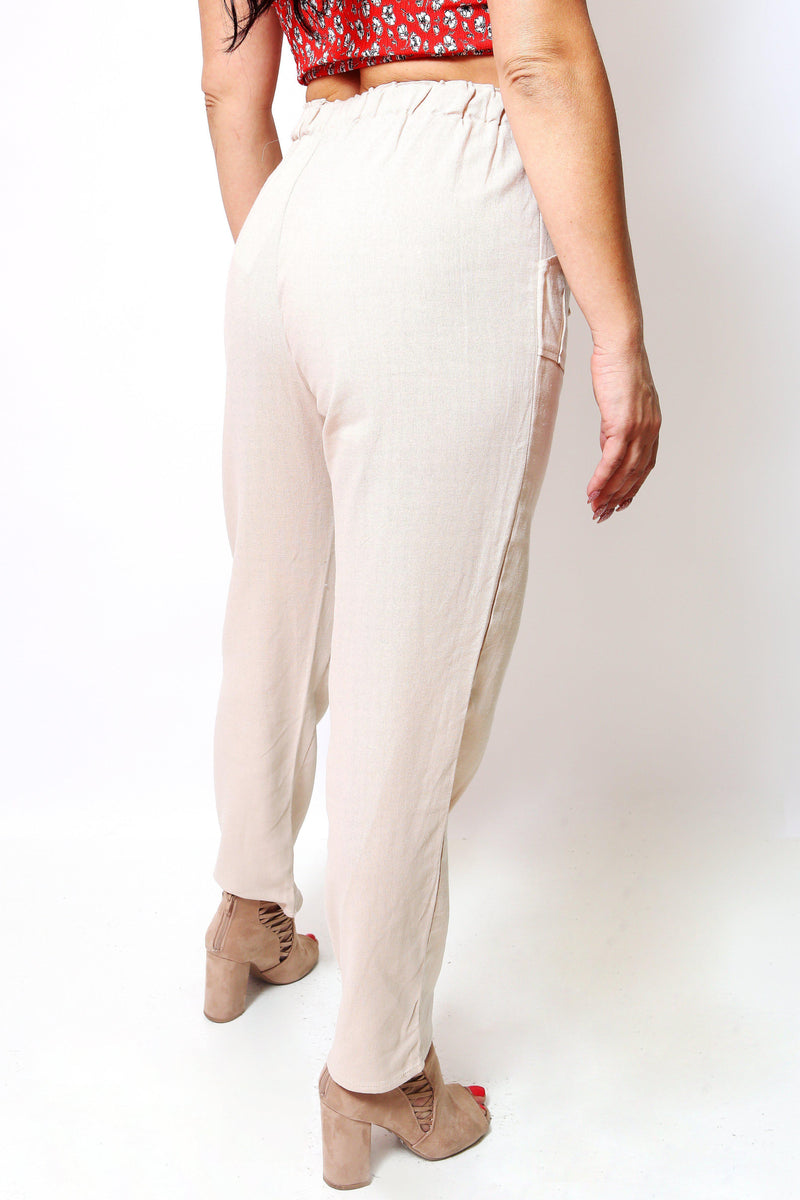 Linen Drawstring Pants-Article & Thread Boutique