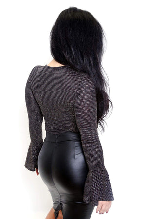 Long Bell Sleeve Sparkling Bodysuit-Article & Thread Boutique