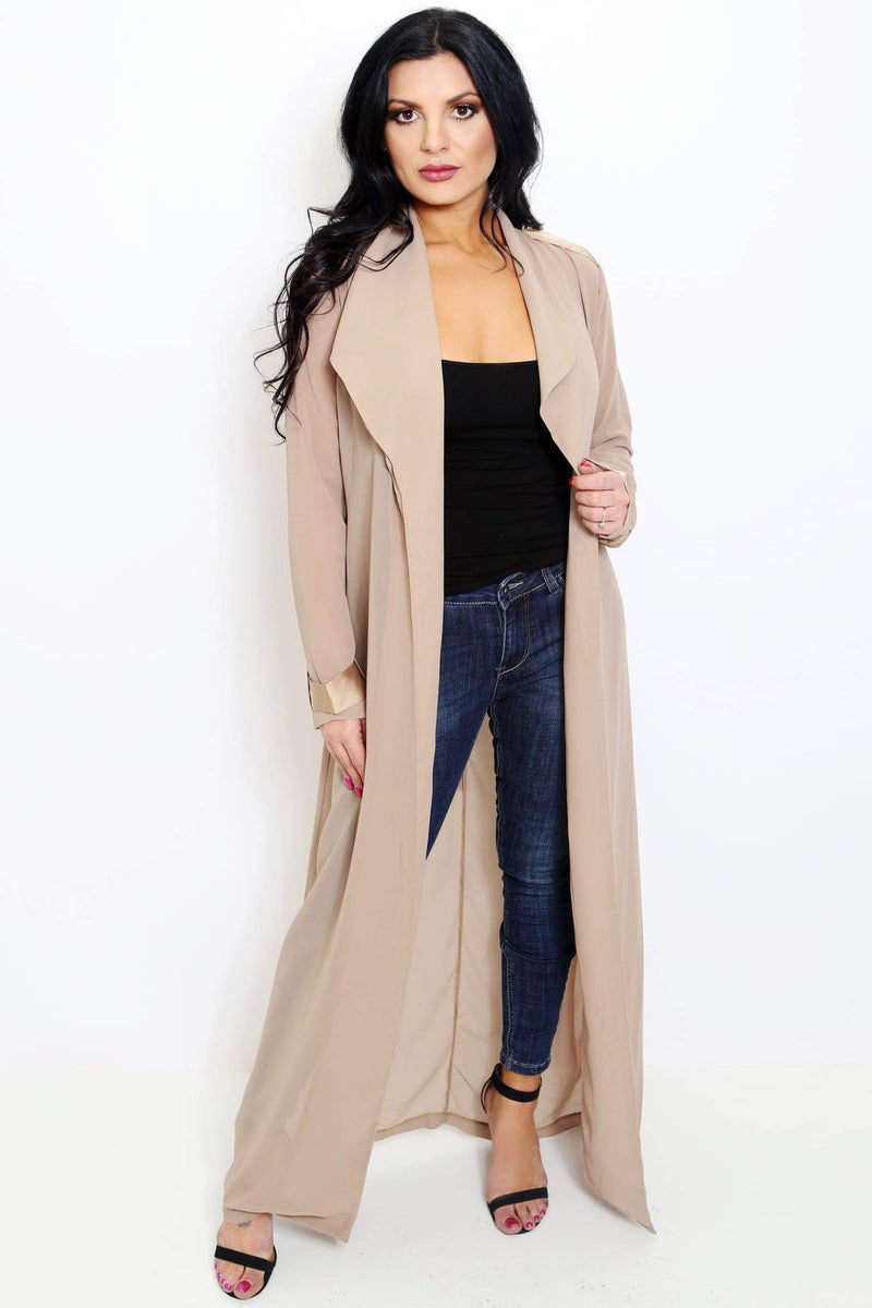 Long Sleeve Open Chiffon Caftan-Article & Thread Boutique