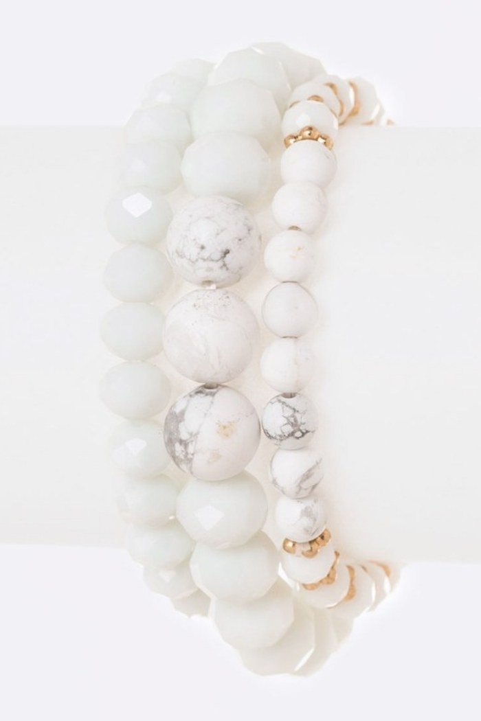 Marble Bead Bracelet Set-Article & Thread Boutique