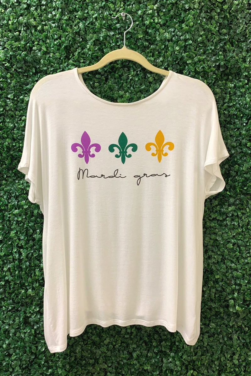 Mardi Gras Graphic Top-Article & Thread Boutique