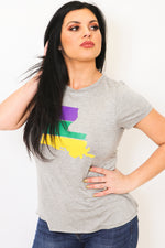 Mardi Gras Louisiana State Tee-Article & Thread Boutique