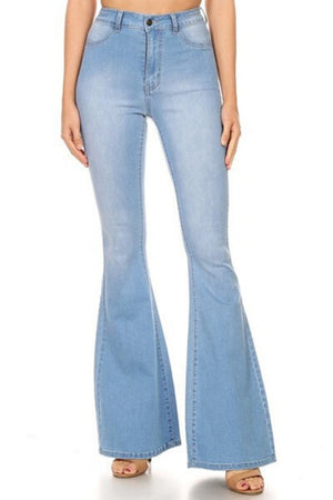 Medium Wash Bell Bottom Jeans-Article & Thread Boutique