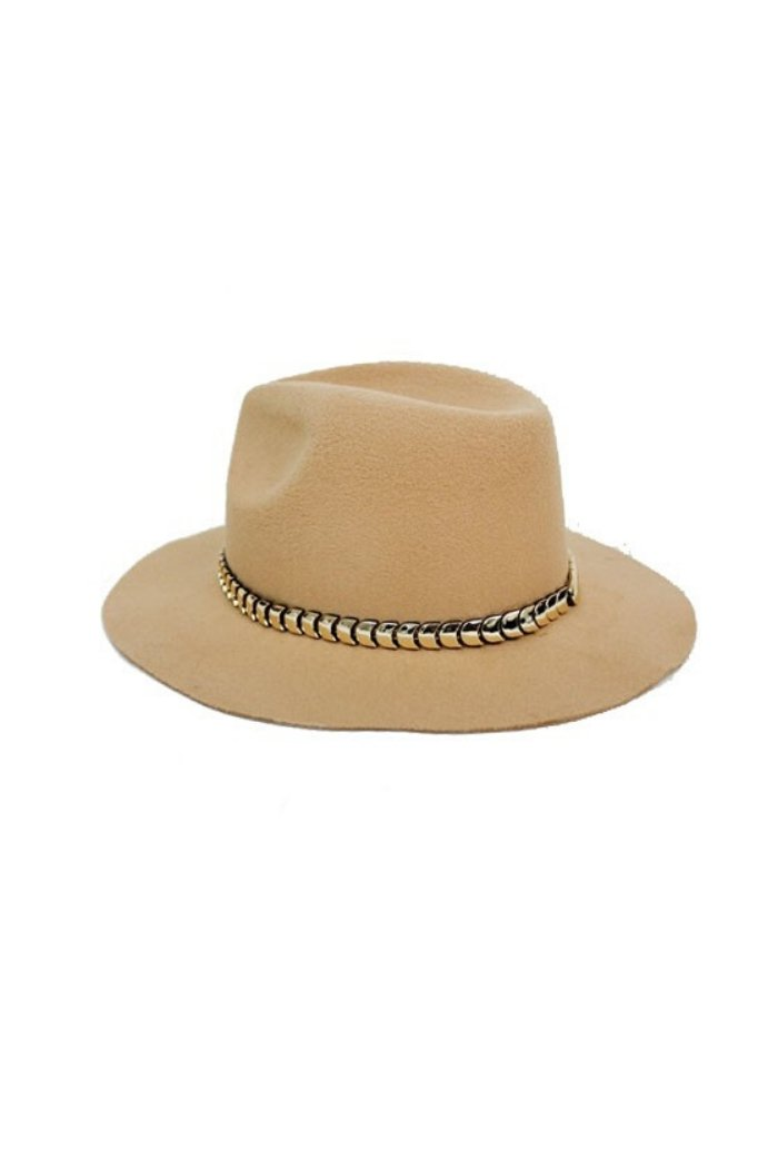 Metallic Chevron Panama Hat-Article & Thread Boutique