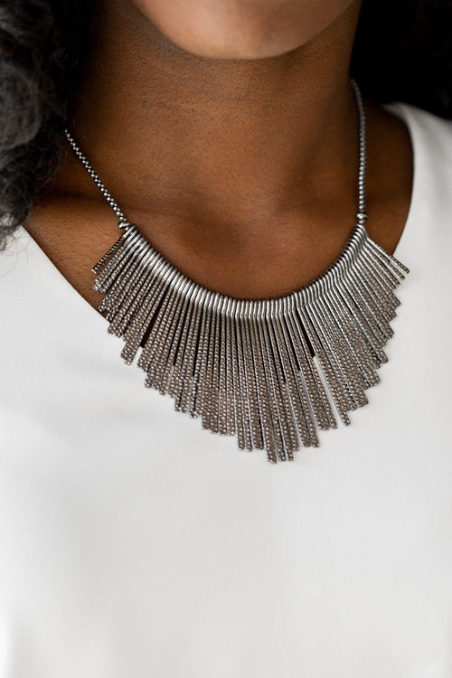 Metallic Mane Necklace-Article & Thread Boutique