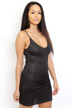 Metallic Shimmer Mini Dress-Article & Thread Boutique