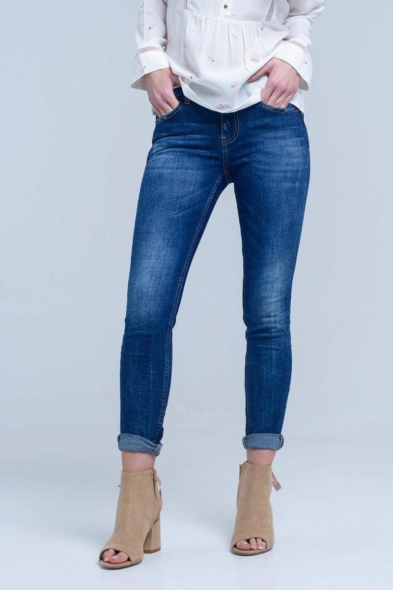 Mid Wash Basic Jeans-Article & Thread Boutique