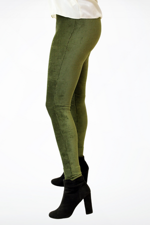 Olive Corduroy Stretch Pants-Article & Thread Boutique