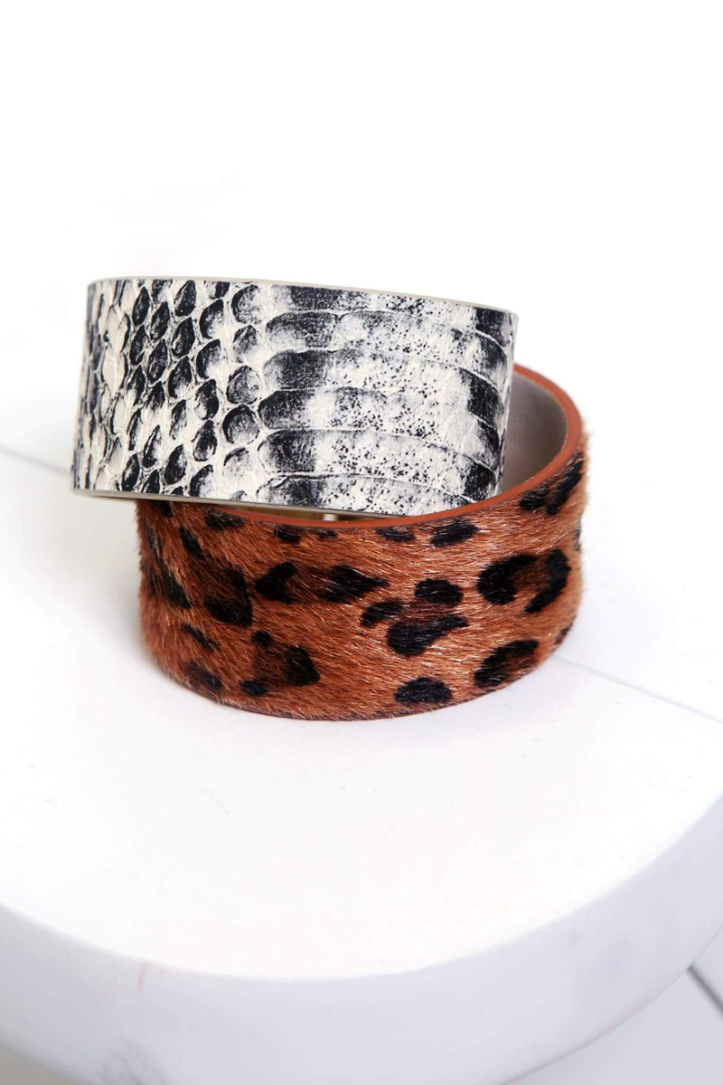 Open Cuff Animal Print Bracelet-Article & Thread Boutique