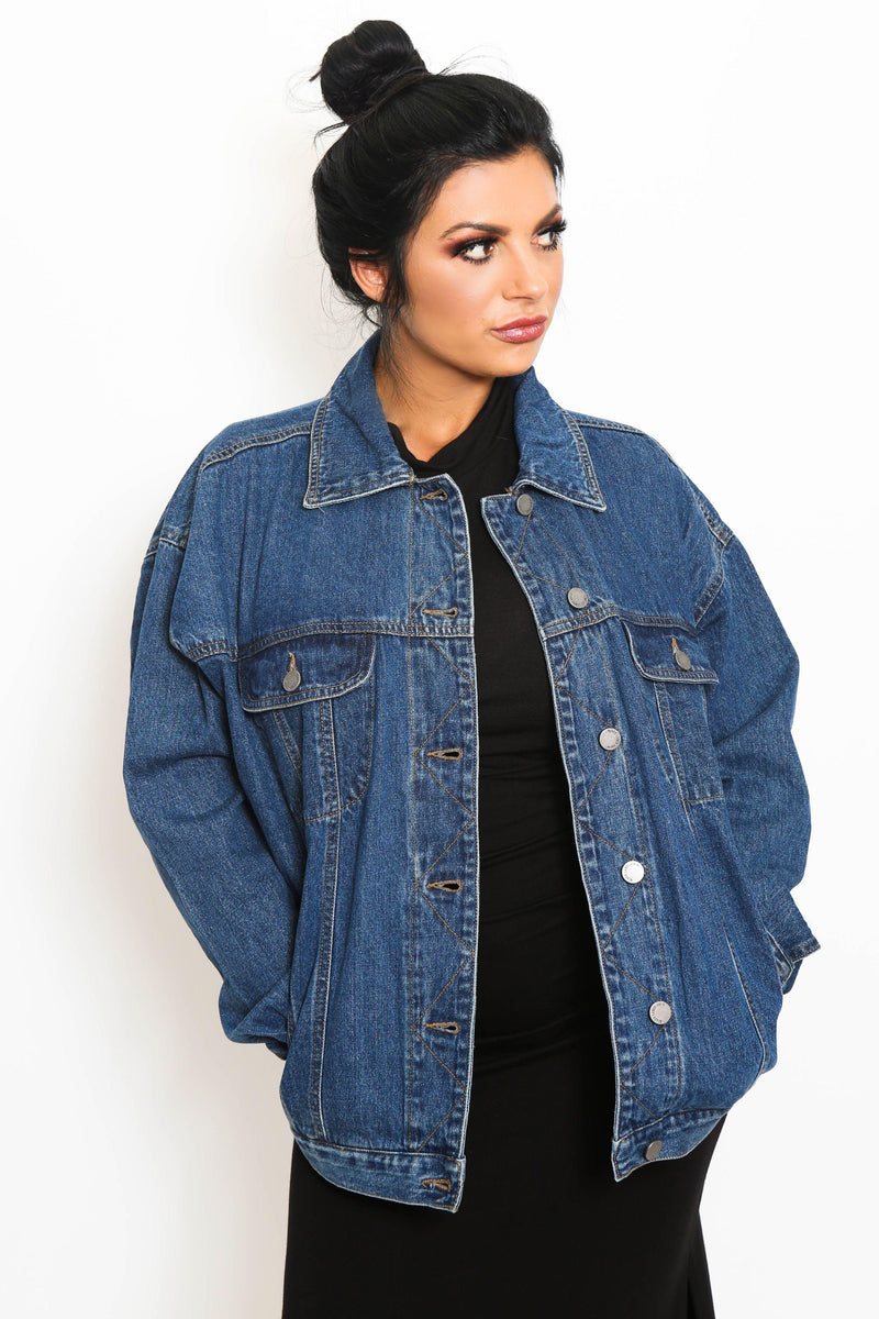 Oversized Vintage Denim Jacket-Article & Thread Boutique