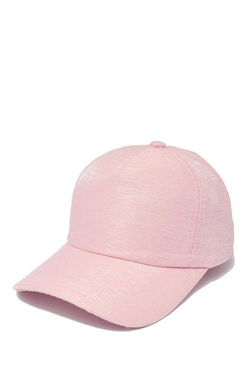 Pink Adjustable Baseball Cap-Article & Thread Boutique