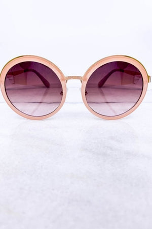 Pink Round Frame Sunglasses-Article & Thread Boutique