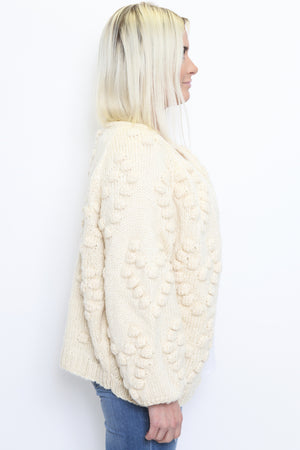 Popcorn Knit Open Cardigan-Article & Thread Boutique