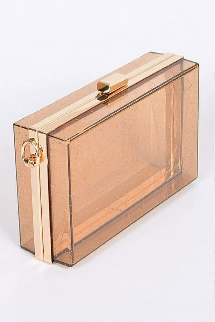 Rectangle Clear Glam Clutch-Article & Thread Boutique