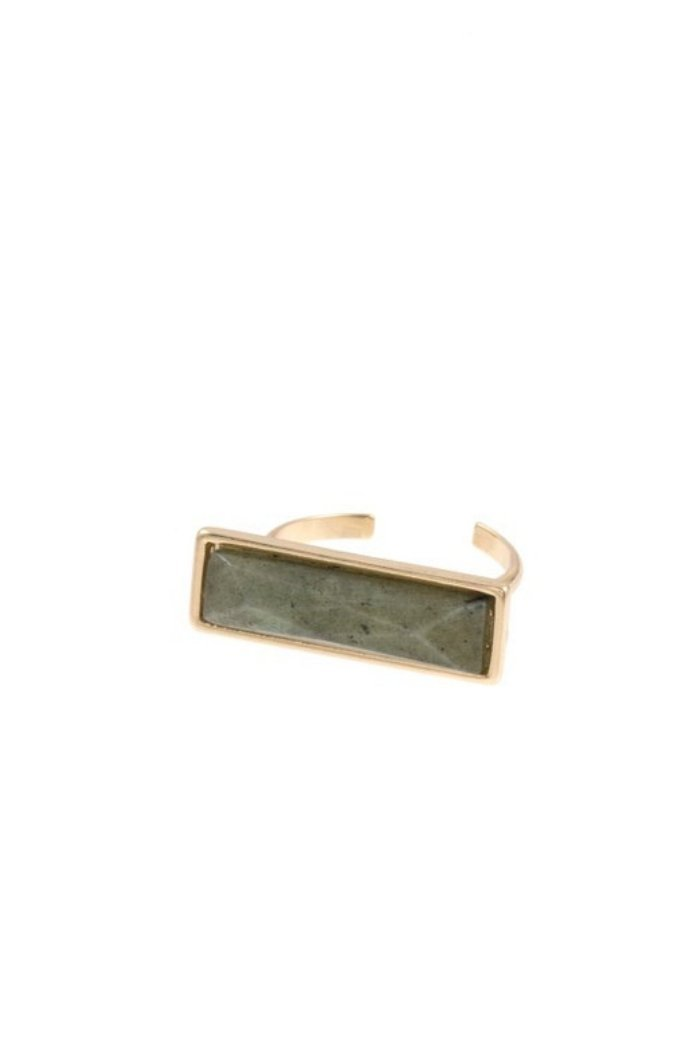 Rectangle Gem Cuff Ring-Article & Thread Boutique