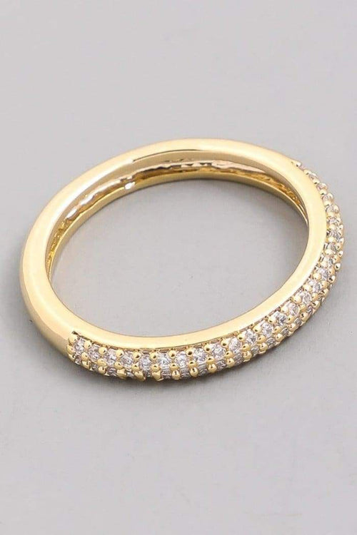 Rhinestone Studded Band Ring-Article & Thread Boutique