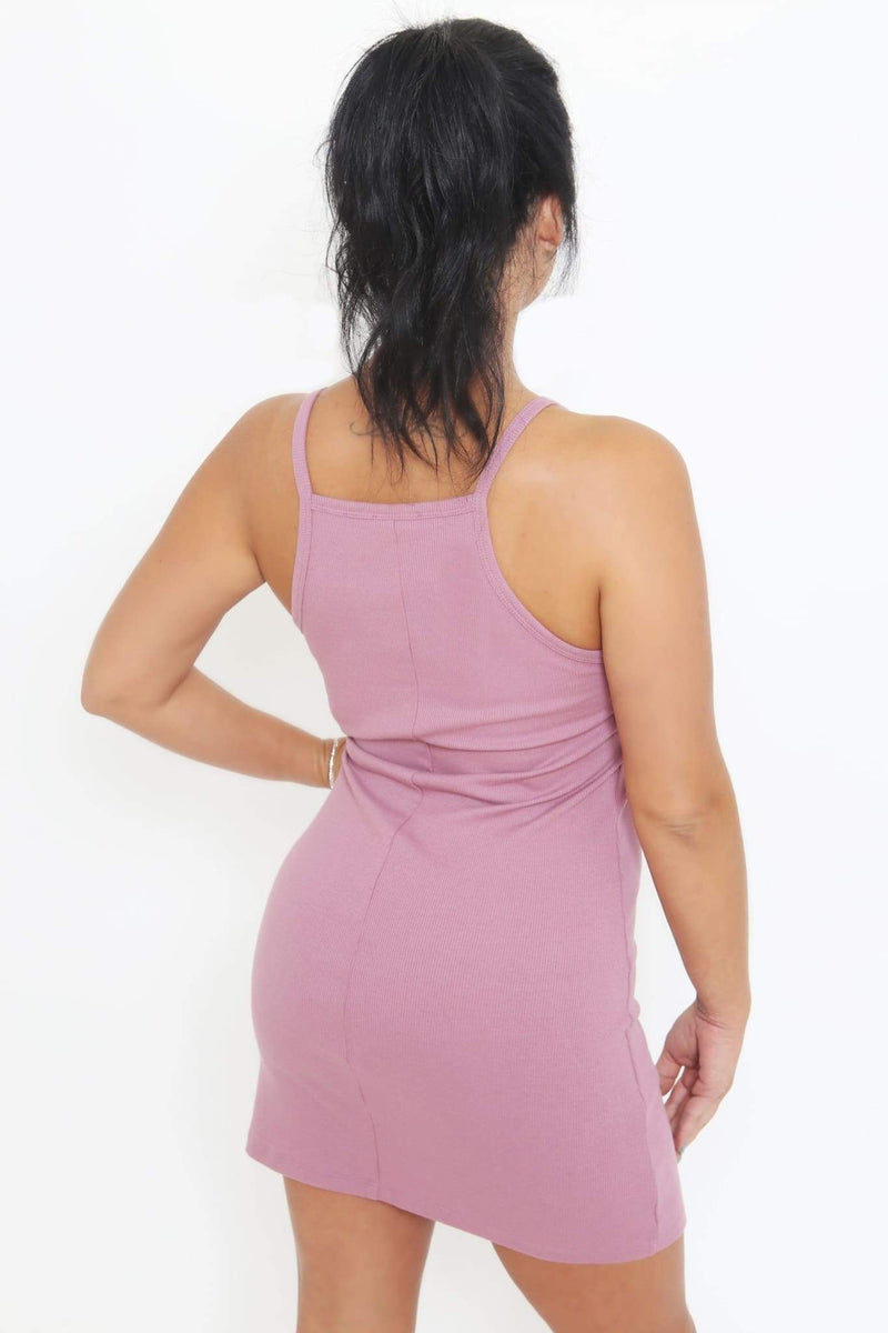 Ribbed Cami Dress-Article & Thread Boutique