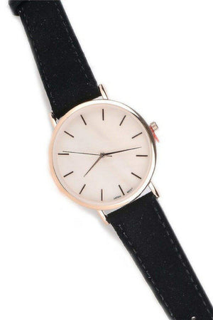 Rose Gold Suede Watch-Article & Thread Boutique