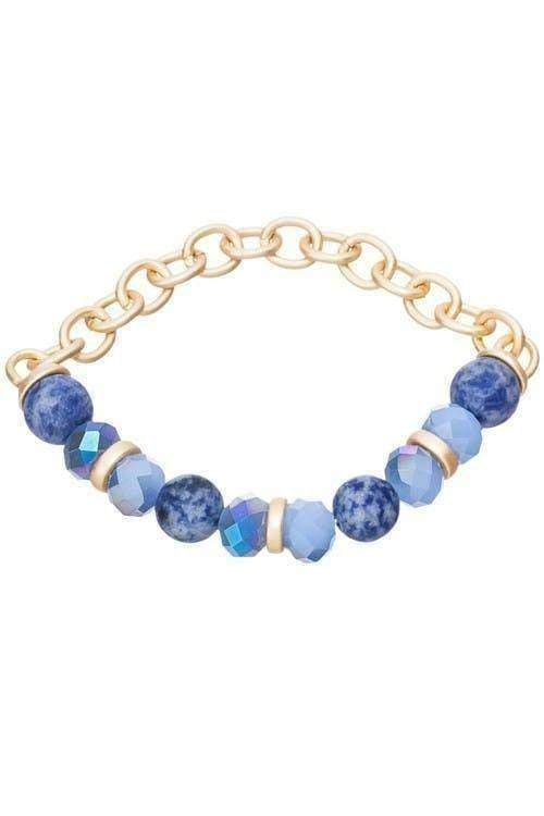 Round Stone Stretch Bracelet-Article & Thread Boutique