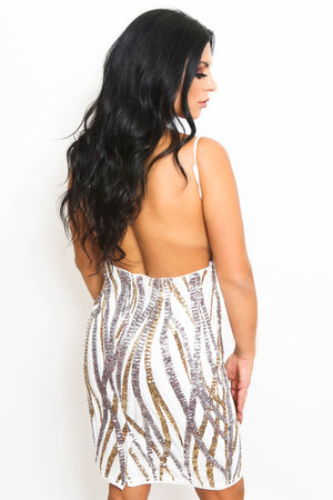 Sequin Open Back Dress-Article & Thread Boutique