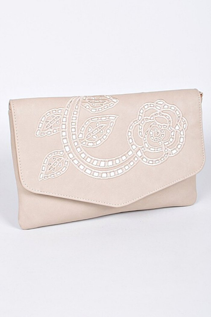 Simple Embroidered Clutch-Article & Thread Boutique