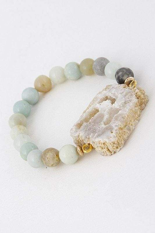 Stone Stretch Bracelet-Article & Thread Boutique
