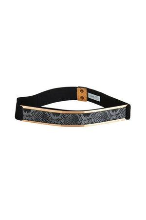 Stretch Gold Plated Snakeskin Belt-Article & Thread Boutique