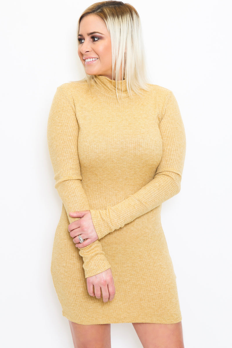 Stretch Knit Long Sleeve Dress-Article & Thread Boutique