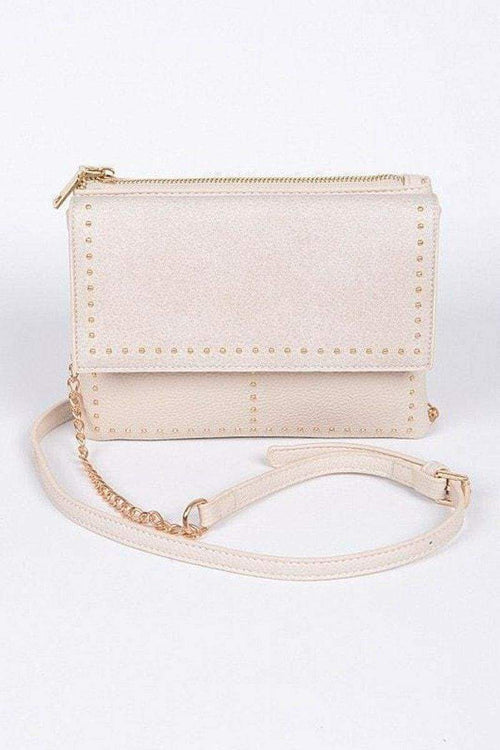Studded Mini Shoulder Bag-Article & Thread Boutique