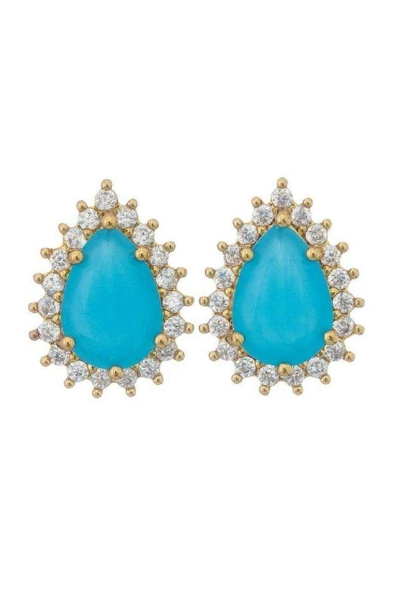 Teardrop Stud Earrings-Article & Thread Boutique