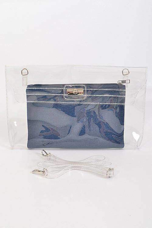 Transparent Removable Pouch Clutch-Article & Thread Boutique