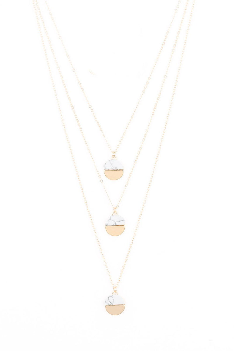 Triple Pendant Necklace-Article & Thread Boutique