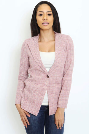 Tweed High Collar Blazer-Article & Thread Boutique