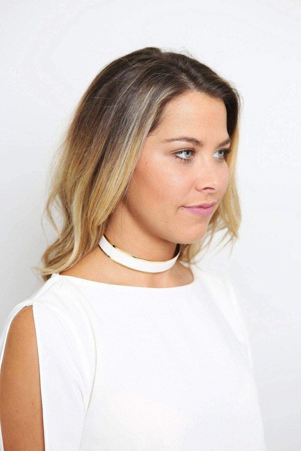 White Metal Choker-Article & Thread Boutique