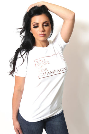 Will Wake Up For Champagne Tee-Article & Thread Boutique