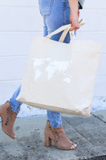 World Map Canvas Tote Bag-Article & Thread Boutique