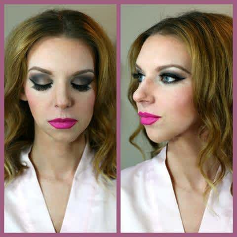 model with bold makeup