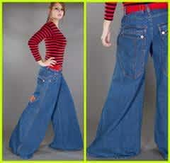 extremely wide bell bottom pants