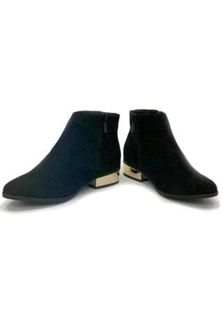 Gold Heel Booties
