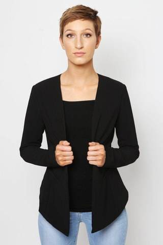 women in black blazer