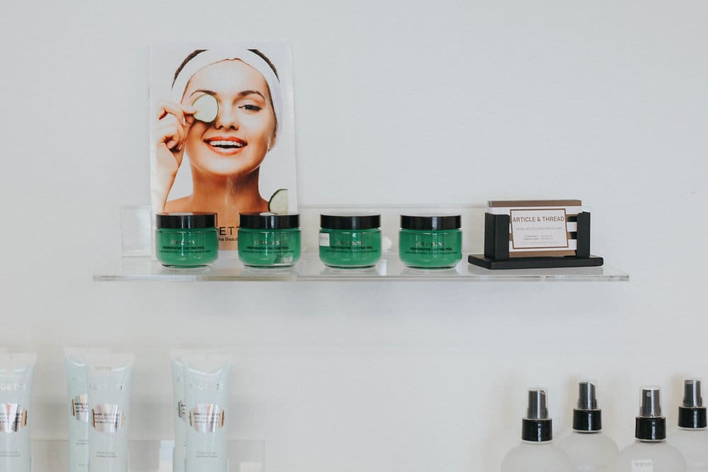 aloette products displayed