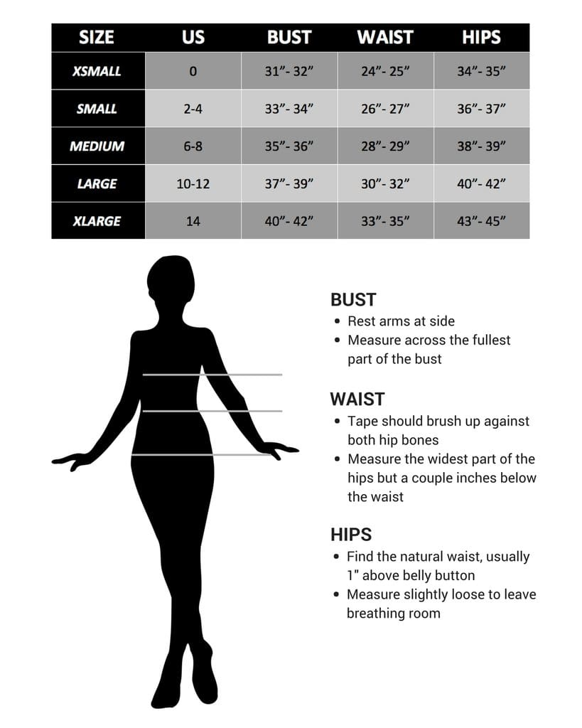 Size Guide for Article & Thread Boutique